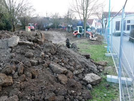 Baumaßnahmen im Bürgergarten sind angelaufen