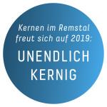 """Gartenschau-Button: """"Unendlich kernig"""""""