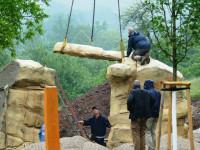 Boulderanlage wird aufgebaut