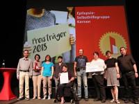 Epilepsie Selbsthilfegruppe Kernen bei der Preisübergabe, Bild: Zeitungsverlag Waibligen