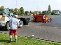 Sanierungsarbeiten am Kunstrasenplatz Rommelshausen