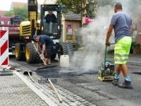Belagsarbeiten in der Stettener Straße