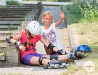 Erste Hilfe am Kind: Sturz mit Inline-Skatern