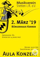 Plakat Aula-Konzert 2019