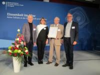 Preisträger Jürgen Hepperle, Monika Schützinger, Otto Förstner und Reinhard Urbanke