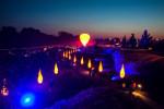Lichter und Flammschalen im Schlosspark
