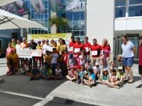 Aller Spender mit Bürgermeister und Vorschulgruppe des Kinderhauses Pezzettino