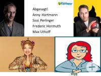 Bild der Kabarett Künstler Anny Hartmann, Sissi Perlinger, Max Uthoff, Frederic Hormuth