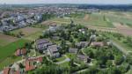 Blick aus der Luft auf das Gelände der Hangweide