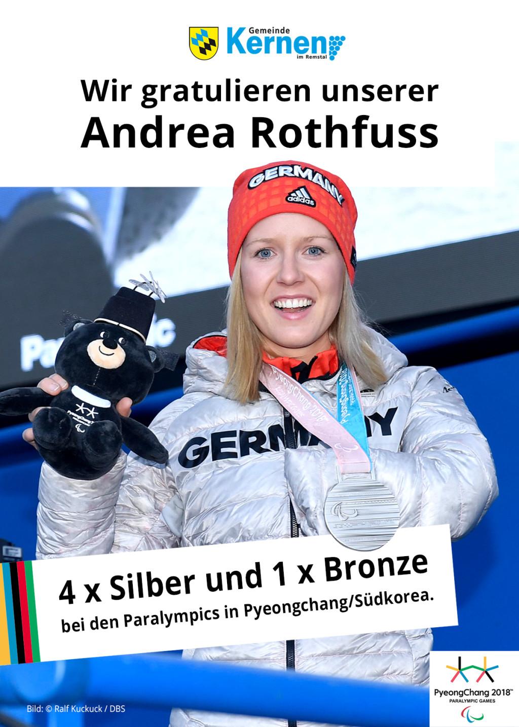 Gratulation an Andrea Rothfuss