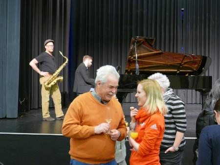 Andrea Rotfuß mit Herbert Hagenlocher