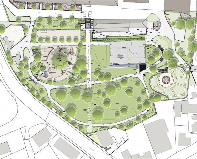 Plan Schlosspark-Neugestaltung