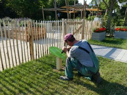 Die Beschilderung für die Gartenschau-Highights ist angelaufen