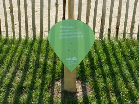 Info-Tropfen beim Bürgergarten