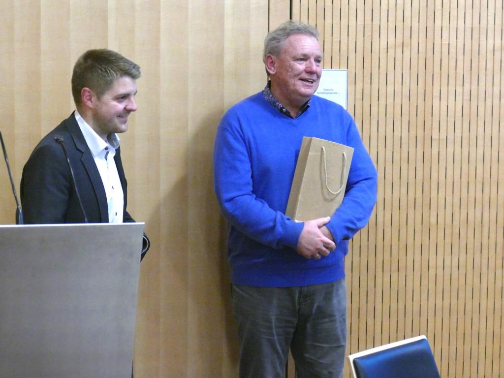 Bürgermeister Benedikt Paulowitsch und Wolf Grünenwald