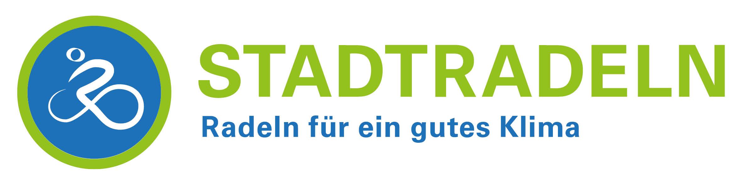 Grün-blaues Logo der Kampagne STADTRADELN